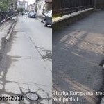 Ăștia-s culmea: au distrus trotuarele modernizate anul trecut! Întâi asfaltează și dup-aia sparg să tragă rețele!