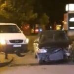 """VIDEO: Accident ciudat în sens! Șoferul """"pe prioritate"""" a consumat băuturi cu alcool și avea viteză mare, dar a scăpat cu legea-n mână!"""