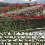 Ca la Caracal! Podul de 1 milion de euro NU e funcțional! L-au făcut prea înalt și fără legătură-directă spre Zăvoaie!