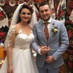 """Nuntă în Ansamblul """"Dor Românesc""""! Emilian Coruți și Oana Matei s-au căsătorit!"""