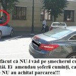 FOTO: DOVADA că Poliția Locală NU dă amenzi șmecherilor care parchează aiurea! Angajații Primăriei Bistrița au venituri ce-ajung la 1.000 de euro, dar își fac treaba de jumate!