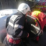 FOTO: Trei persoane au fost rănite în urma unui accident rutier pe DN 17, în Prundu Bârgăului