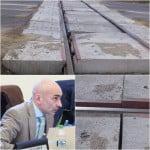 """""""Dezastru! Așa arată după două zile. Sunteți jalnici!"""" Cum arată trecerea de cale ferată modernizată cu 90.000 de euro!"""