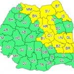O nouă avertizare cod galben pentru Bistrița-Năsăud. Ne așteaptă averse torențiale, răcire a vremii și intensificări temporare ale vântului