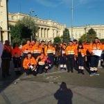 FOTO: Ambulanțieri bistrițeni, la acțiunile de pichetare de la București