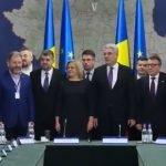 VIDEO: Ce i-a cerut șeful Consiliului Județean Bistrița-Năsăud premierului Mihai Tudose? La București s-a semnat contractul de finanțare pentru drumul din Colibița până în Mița