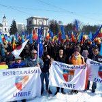 FOTO/VIDEO: Manifestaţie de amploare la Chişinău pentru unirea României cu Republica Moldova. Și Bistrița-Năsăud susține inițiativa