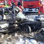 FOTO/VIDEO: O persoană și-a pierdut viața într-un accident rutier petrecut pe DN 17, în Unirea