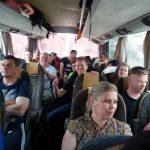 FOTO: Sindicaliștii Sanitas din Bistrița-Năsăud au plecat spre București, unde vor participa la miting
