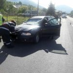 FOTO: Coliziune între o mașină și o căruță la Tureac
