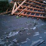 Probleme în județ din cauza ploilor și a vântului: copaci doborâți, acoperișuri afectate, locuințe fără curent electric