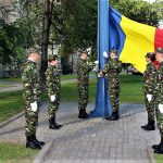 FOTO: Ziua Drapelului Național, marcată la Bistrița. Astăzi, drapelul a fost înălțat pe catarg