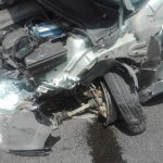 FOTO: Șase persoane au fost implicate într-un accident rutier petrecut la ieșire din Sîngeorz-Băi