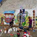 FOTO: Zidul unui imobil din municipiul Bistrița a primit o nouă înfățișare