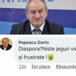 """EL zice: """"Diaspora, niște jeguri violente și frustrate!"""" Cine e Dorin Popescu și ce mesaje îi transmiteți? E bugetar de LUX, are peste 10.000 de lei salariu și activeză la Consiliu Județean!"""