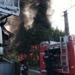 Puternic incendiu pe Valea Budacului (FOTO/VIDEO)