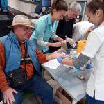 FOTO: Sute de bistrițeni și-au testat gratuit glicemia
