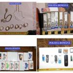 FOTO: Percheziții la persoane bănuite de furturi. S-au găsit mai multe numere de înmatriculare, bijuterii, telefoane, laptopuri