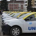 FOTO/VIDEO: Taximetriștii bistrițeni susțin protestul transportatorilor din toată țara. Ce revendicări au și cu ce probleme se confruntă în municipiu?